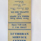 Lutheran Service Center - Harrisburg, PA Pennsylvania 20 Strike Matchbook Cover