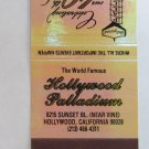 Hollywood Palladium - Hollywood, California 30 Strike Matchbook Cover Matchcover