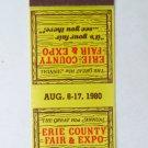 1980 141st Erie County Fair & Expo - Hamburg, New York 20 Strike Matchbook Cover