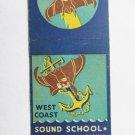 West Coast Sound School San Diego, California 20 Strike Military Matchbook Cover