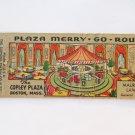 Merry-Go-Round Copley Plaza - Boston, Massachusetts 20 Strike Matchbook Cover MA