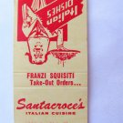 Santacroce's - Coral Gables, Florida Restaurant Italian 20Strike Matchbook Cover