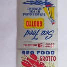 Sea Food Grotto Detroit Michigan Restaurant 20 Strike Matchbook Cover Matchcover