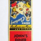 John's Diner - Rariton Township, New Jersey Restaurant 20 Strike Matchbook Cover