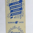 Howey's Country Fare- Glencoe, Illinois Restaurant 20 Strike Matchbook Cover Map