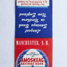 Amoskeag Savings Bank- Manchester, New Hampshire 20FS Matchbook Cover Lighthouse