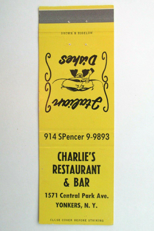 Charlie's Restaurant & Bar - Yonkers, New York 20 Strike Matchbook Cover NY