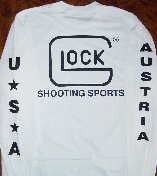 Glock T-Shirt Long Sleeve White Med Part Number LWGLO-AP61404