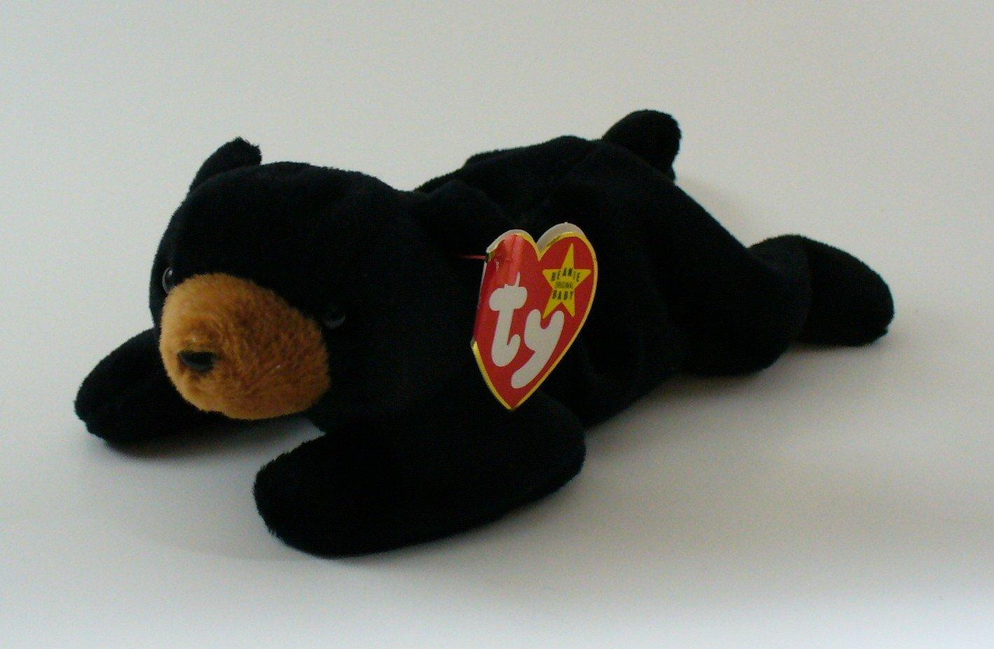 TY Beanie Baby Blackie Bear