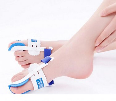 1 Pair Big Toe Bunio Night Splint Straightener Hallux Valgus Foot Pain Relief