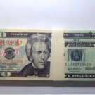 Lots of 100 Pieces Banktells' 20 USD Training Banknotes/ Paper Money UNC