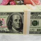 A Lot of 100 Pieces  Banktells' 100 USD Training Banknotes Paper Money UNC1