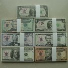 Lots of 700 Pieces of Banktells' USD Training Banknotes/ Paper Money. UNC