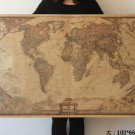 Large Vintage Retro Paper Earth World Map Poster Wall Chart Home Decor 100x66CM
