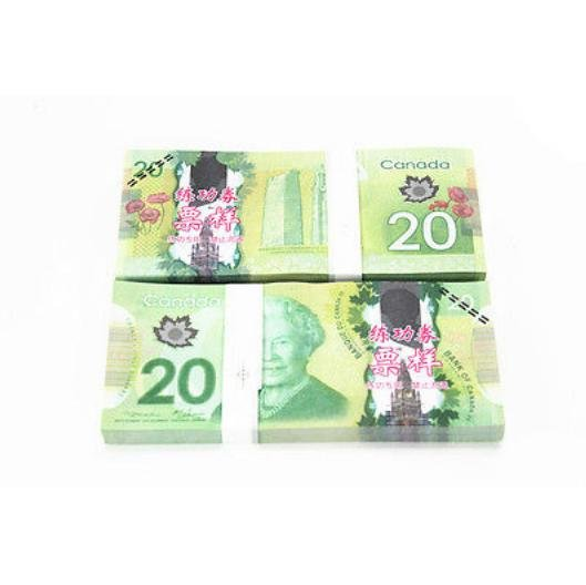 Lot of 100 Pieces  Banktells' C$20 Training  Canada Banknotes Paper Money