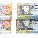Lot of 100 Pieces  Banktells' AU$ 10 Training Australia Banknotes Paper Money UNC