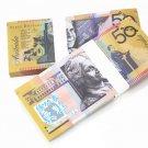 Lot of 100 Pieces  Banktells' AU$ 50 Training Australia Banknotes Paper Money UNC