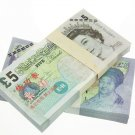 Lot of 100 Pieces  Banktells'  £5 Training GBP Banknotes Paper Money UNC