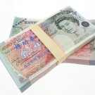 Lot of 100 Pieces  Banktells'  £50 Training GBP Banknotes Paper Money UNC