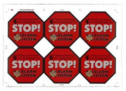 Six Streetwise Security Stickers