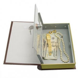 Deluxe Locking Book Safe