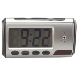 Spy Digital Alarm Clock DVR with motion detector