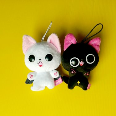 9cm The Gothic World of Nyanpire Cat Masamunya plush soft toy doll
