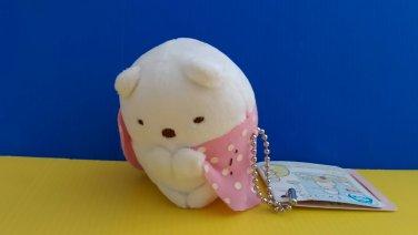 Brand New Authentic San-X 6cm Sumikko Gurashi Shirokuma Polar Bear Furoshiki Blanket plush doll