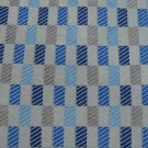 RAFAEL STRIPE WOVEN BLUE GREY SILK Men Neck Tie Men Designer Tie EUC