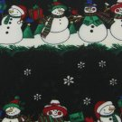 #1A New HALLMARK Christmas Snow Man Holiday Tree BLACK WHITE GREEN  Necktie Tie