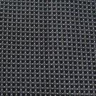 #1A New Michael's Italy Woven Square Checkered Grey Black Silver Silk NECKTIE