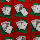 FREE SHIP USA Seller New TANGO POKER PLAYING CARD RED GRN MEN NECK TIE Excellent