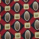 #1A STAFFORD OVALS RED BROWN OLIVE SILK MEN NECK TIE Krawatte Cravatta