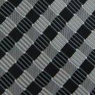 #1A New GIACOMO BLACK SILVER STRIPE WOVEN MEN NECK TIE Krawatte Cravatta
