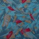 #1A New DAVID LAWRENCE ART DECO BLUE PINK SILK MEN NECK TIE