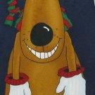 #1A New HALLMARK Christmas Holiday Reindeer Ornament NAVY BROWN RED Necktie Tie