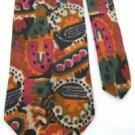 #1A MBP ABSTRACT PINK ORANGE GREEN BLACK SILK Men Neck Tie Krawatte Cravatta