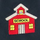 #1A New WOLFMARK SCHOOL HOUSE BLACK RED BROWN YELLOW   Poly Tie NECK TIE