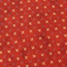 #1A STRUCTURE ORANGE-RED YELLOW SILK MEN NECK TIE