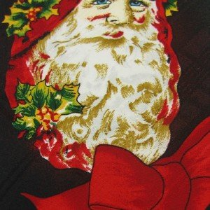 #1A New 615 COLLECTION Christmas Santa Holiday Ornament BLACK RED  Necktie Tie