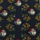 #1A MARK ALEXANDER USA Christmas Santa Holiday MISTLETOE NAVY RED  Necktie Tie