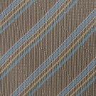 "#1A New XL 60"" KAI LONG STRIPE WOVEN TAN BLUE TIE Necktie"