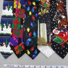 3 Christmas Xmas Holiday Silk Men's Ties Necktie Neck Tie Lot #P18O