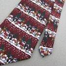 New Christmas Santa Snow Holiday Reindeer Tree Snowman Men Maroon Neck Tie Lot#B