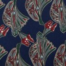ALFANI FLORAL NAVY RED GREEN SILK NECK TIE Men Designer EUC