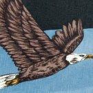 #1A New ANIMAL TRACKS BALD EAGLE BIRD BLACK BROWN NECK TIE