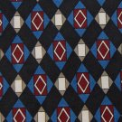 CLUBFELLOW ITALY BLACK BLUE RED CHECKER MEN NECK TIE Men Designer Tie EUC