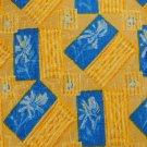 GEOFFREY BEENE YELLOW BLUE FLORAL SILK Men Neck Tie Men Designer Tie EUC