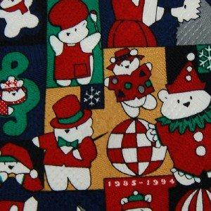 #1A New WOODWARD CHRISTMASS BEARS RED GREEN NECK TIE NECKTIE