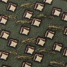 #1A New WOODWARD DIAMONDS GREEN TAN YELLOW SILK TIE Necktie